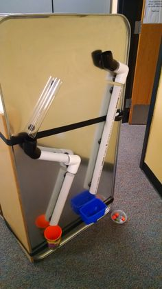 Build your own ball wall with PVC pipes, magnets and shooter marbles. Great STEM tinkering fun for kids.