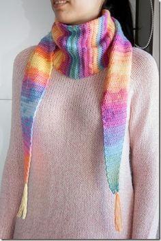 Crochet scarf Baktus