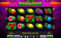 Das ist Fruitilicious Spielautomat von Novomatic! Saftiges Spiel und suesse Gewinne! Verliere keine Zeit!