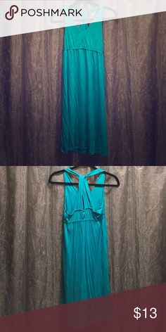 Summer dress T back teal summer dress. Fitted on top & loose from under the bust on down. Old Navy Dresses