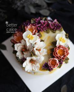 "238 Likes, 1 Comments - 베러케이크/BetterCake 버터크림&앙금플라워케익 (@better_cake_2015) on Instagram: ""Done by my student from Malaysia  - Buttercream + Beanpaste flower cake (베러 전문가반/Professional…"""