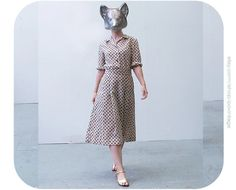 vintage dress beige dress from the by PoVintage, Vintage Dresses, Vintage Outfits, Clothing Photography, Beige Dresses, Foxes, 1970s, Short Sleeve Dresses, Trending Outfits, My Style