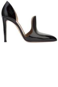 Nouveau Noir: The New Black Pieces for Fall: Gianvito Rossi shoe, $875, 646-869-0201