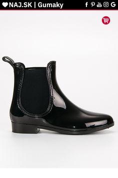 Lakované čierne gumaky VINCEZA Chelsea Boots, Tommy Hilfiger, Ankle, Shoes, Fashion, Moda, Zapatos, Wall Plug, Shoes Outlet