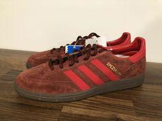 sports shoes 0abe2 b9176 Adidas Hamburg Maroon Suede   Red Stripe Men s 9 NEW samba spezial rare 2012