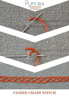 Pumora's embroidery stitch-lexicon: the closed chain stitch
