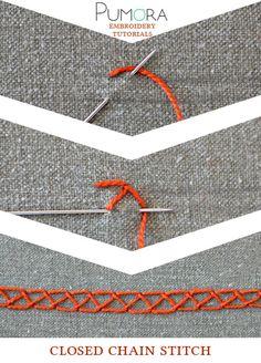 Pumora's embroidery stitch-lexicon: the closed chain stitch
