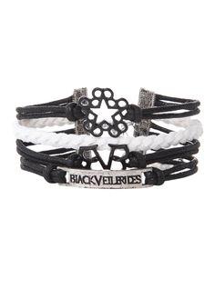 Black Veil Brides Logos Bracelet | Hot Topic