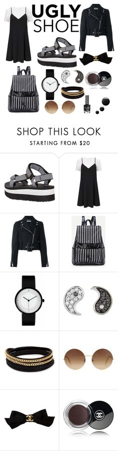 """""""Ugly Shoe"""" by tinap97 ❤ liked on Polyvore featuring Teva, Miss Selfridge, Givenchy, Sydney Evan, Vita Fede, Victoria Beckham and Chanel"""