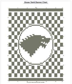 Game of Thrones Cross Stitch Chart: House Stark