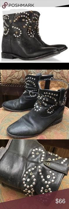 Isabel Marant Caleen studded ankle booties size 38 Yes this are authentic Isabel Marant boots notice a wear on them they been pre- loved ,selling as they are still have some plenty  life in them ,thank you Isabel Marant Shoes Ankle Boots & Booties