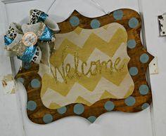 Welcome Plaque Door Hanger