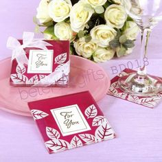 Fall in Love Coaster Hot Sale BETER-BD018 Wholesale Wedding Favours, Birthday Party Favors