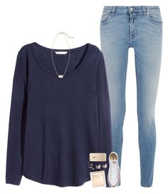 """""""could've loved you all my life if you hadn't left me waiting in the cold"""" by pineapple5415 ❤ liked on Polyvore featuring Givenchy, H&M, Kendra Scott, Converse, Jouer and FOSSIL"""