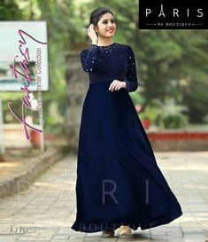 Pin by MiMi Love on Fashion Designer! in 2019 Indian Gowns Dresses, Evening Dresses, Simple Gown Design, Engagement Gowns, Bride Reception Dresses, Gown Party Wear, Frocks And Gowns, Simple Gowns, Long Gown Dress