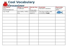 A useful tool for pre-teaching vocabulary. Helps students to understand the word in context and helps to memorise each spelling. A Look, Cover, Write, Check spelling sheet is also attached for practising spellings. Useful for SEN, ESL and all students.