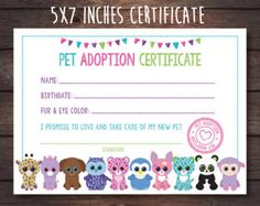 Adopt-a-Pet Process Sign Beanie Boo Party Digital File