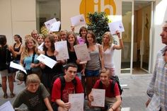 Students with their Spanish certificates. Summer Spanish program for teenagers 14 to 17 years old in Valencia, Spain Choose from one to six weeks. The program includes Class materials, a Spanish Level test, a Certificate and academic report at the end of the course, Host family accommodation in double room with full board, Activities, cultural visits and sports every afternoon from Monday to Friday, One full-day excursion per week