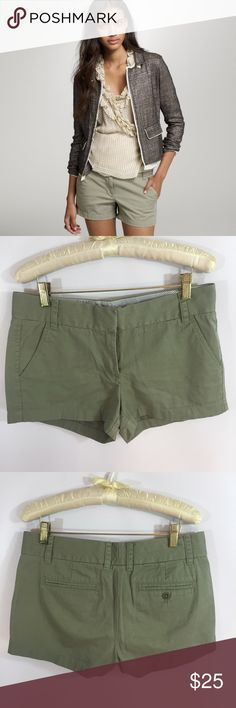 """J. Crew Chino Shorts So cute! Excellent condition. Size 4. Waist 32"""" J. Crew Shorts"""