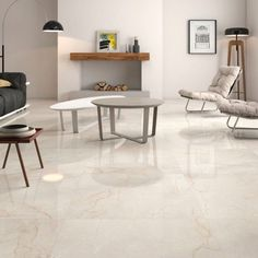 Classic cream gloss floor tiles have a lovely marble effect finish and to capture the natural beauty of marble there is high variation between the tiles. This large porcelain tile flooring is perfect for contemporary or traditional environments and with a PEI4 rating it can be used in domestic or commercial settings. creamtilefloor #largefloortiles #marblefloor #marbletiles #roomtiles #kitchentiles #kitchenflooring #tilewarehouse #livingroomflooring