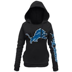 Detroit Lions 5th and Ocean by New Era Women's Snap Count Pullover Hoodie – Black