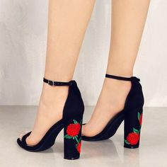 Cheap party shoes, Buy Quality heels women directly from China suede shoes women Suppliers: 2018 Suede Shoes Woman Sandal Embroider High Heel Women Sandals Ethnic Flower Floral Party Shoes Plus Size Zapatos Mujer Suede Shoes, Pump Shoes, Women's Shoes, Dress Shoes, Shoes 2017, Golf Shoes, Leather Pumps, Platform Shoes, Pu Leather
