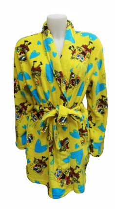 SpongeBob Angel Fleece Plush Robe Calling all Spongebob fans! These soft angel fleece robes for women feature Nickelodeon's Spo...
