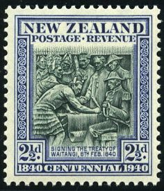King George VI Postage Stamps: New Zealand 1940 Mar) Centenary of Proclamation of British Sovereignty Old Stamps, Rare Stamps, George Vi, Kiwiana, Poster S, Stamp Collecting, Mail Art, Postage Stamps, History