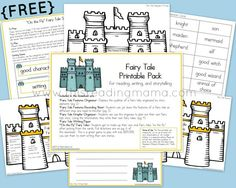 FREE Fairy Tale Printable Pack for school-age kids | This Reading Mama