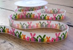 1 metre 16mm Bunnies Grosgrain Ribbon, rabbit ribbon, easter, from Make and Do on Folksy, £0.65