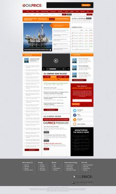 """""""This the website that we create is about Oil Pricing.Its shows the world wide prices of oil""""  We create a new website design for this company using latest web trends and standards. Please look at this and write few lines of feedback. Visit: http://mindlogicsinc.com/"""