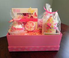 BabyBinkz Gift Basket - Unique Baby Shower Gift or Centerpiece cute girl boy neutral. $65.50, via Etsy.