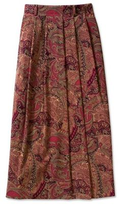 Paisley Country Suede Skirt / Petite $69.00
