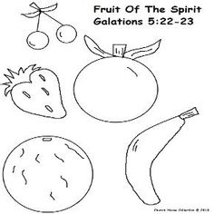Fruit of the Spirit coloring pages for Sunday school
