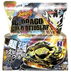 Battling Top Toys - LDRAGO GOLD BEYBLADE 4D TOP METAL FUSION FIGHT MASTER NEW  LAUNCHER ** You can get more details by clicking on the image.