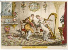 'Harmony before Matrimony', published 1805 (coloured engraving)