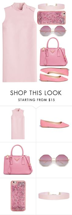 """""""3 Shades of Pink. """" by madelienefashion ❤ liked on Polyvore featuring RED Valentino, Sam Edelman, ban.do and Humble Chic"""