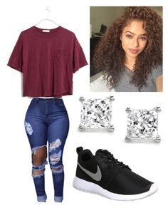 """""""You got something special ❤️"""" by brejeasmith on Polyvore featuring NIKE, Madewell and Montebello Jewelry"""