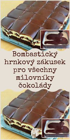 Charlie Chocolate Factory, Baking Recipes, Dessert Recipes, European Dishes, Delicious Desserts, Yummy Food, Czech Recipes, Christmas Baking, Cas