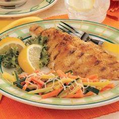 Taste of Home's Grilled Crispy Catfish Recipe (uses saltines)