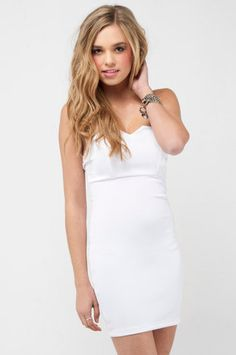 Too Hot to Handle Dress in White $60 at www.tobi.com