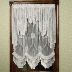 Garland lace balloon shades - over-the-top vintage Drop Cloth Curtains, Hanging Curtains, Drapes Curtains, Valances, Drapery, Double Curtains, Nursery Curtains, Burlap Curtains, Curtains Living