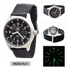 Seiko Watch SNZG15J1. No Orginal Manual - Only A4 Printed Seiko Manual 7S36. Gender: Mens. Function: (Watch with a balance wheel to regulate time and a mainspring as its source of energy. The mainspring is wound by the movement of the wearer.). | eBay!