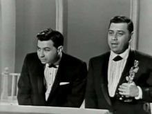 """1965: The Sherman Brothers winning the Oscar® for Music Score for """"Mary Poppins"""""""