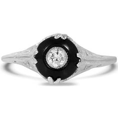 White Gold The Ibby Ring Vintage Onyx Art Deco Verlobungsring – Ibby (Festpreis) Anel Art Deco, Art Deco Ring, Art Deco Diamond, Vintage Diamond Rings, Vintage Rings, Onyx Engagement Ring, Canadian Diamonds, Ring Verlobung, Eternity Ring