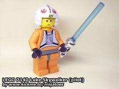 LEGO Luke Skywalker rebel pilot papercraft