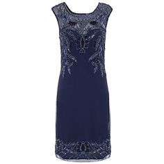 Buy Ariella Betsy Short Sequin Dress, Navy from our Plus Size range at John Lewis & Partners. Blue Dresses, Short Dresses, Formal Dresses, Beaded Dresses, Long Gowns, Flapper Costume, Sequin Dress, Streetwear Brands, Sequins