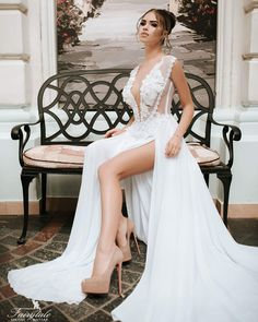 White Wedding Dresses, Lace Wedding, Formal Dresses, Facebook, Fashion, Dresses For Formal, Moda, Formal Gowns, Fashion Styles