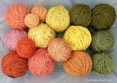 natural dyed yarn rainbow
