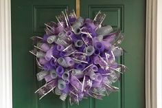 New Orleans Crafts by Design: Purple and Silver Spiral Deco Mesh Christmas Wreath